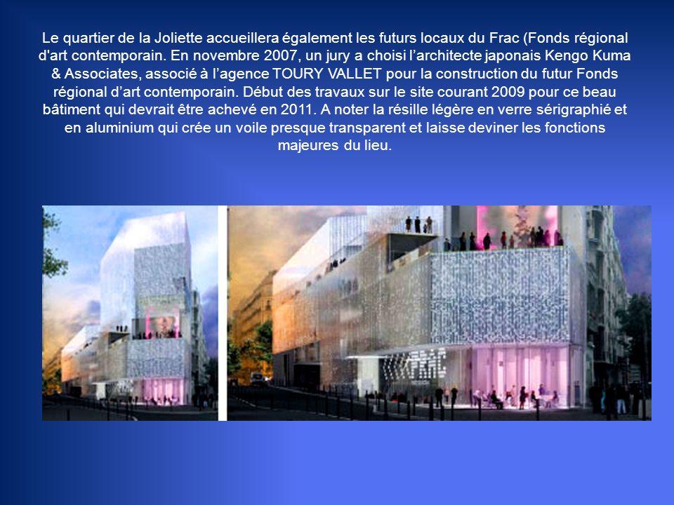 Le quartier de la Joliette accueillera également les futurs locaux du Frac (Fonds régional d art contemporain.