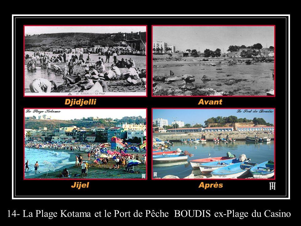 14- La Plage Kotama et le Port de Pêche BOUDIS ex-Plage du Casino