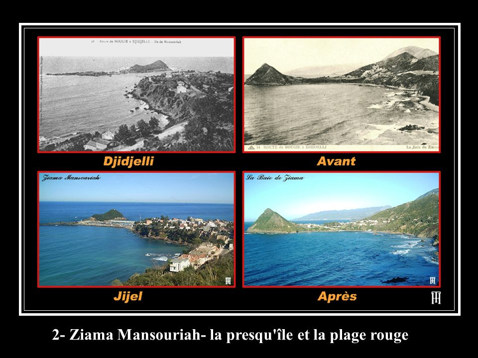 2- Ziama Mansouriah- la presqu île et la plage rouge