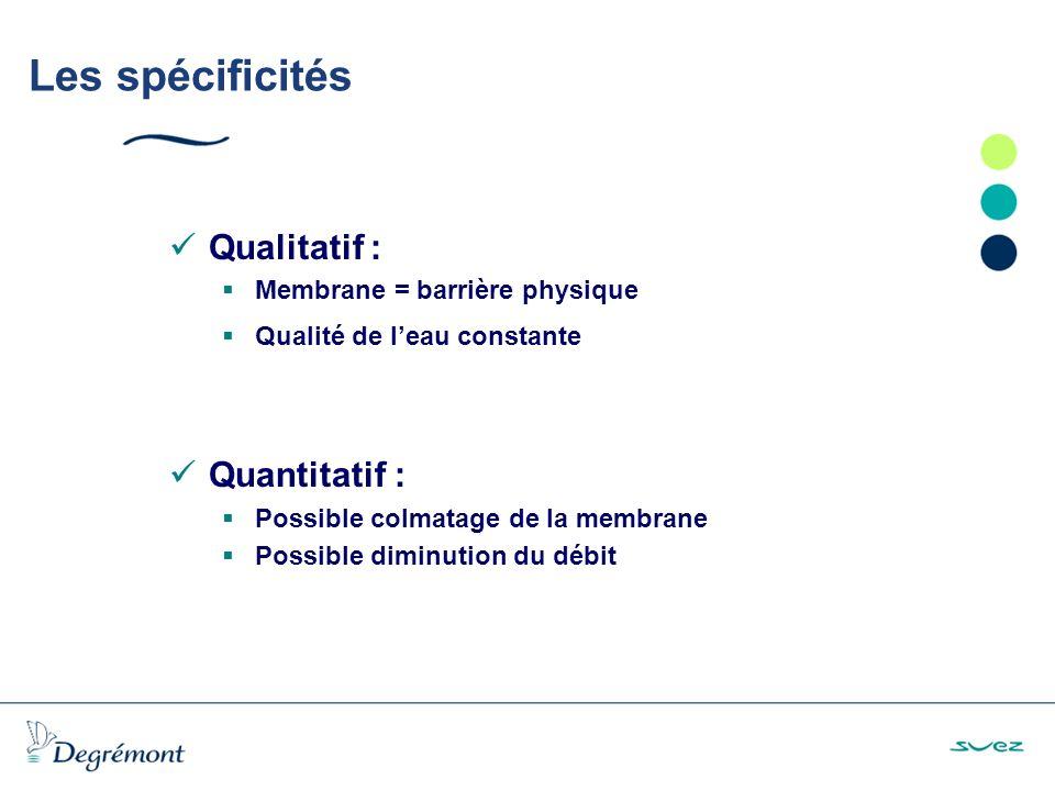 Les spécificités Qualitatif : Quantitatif :