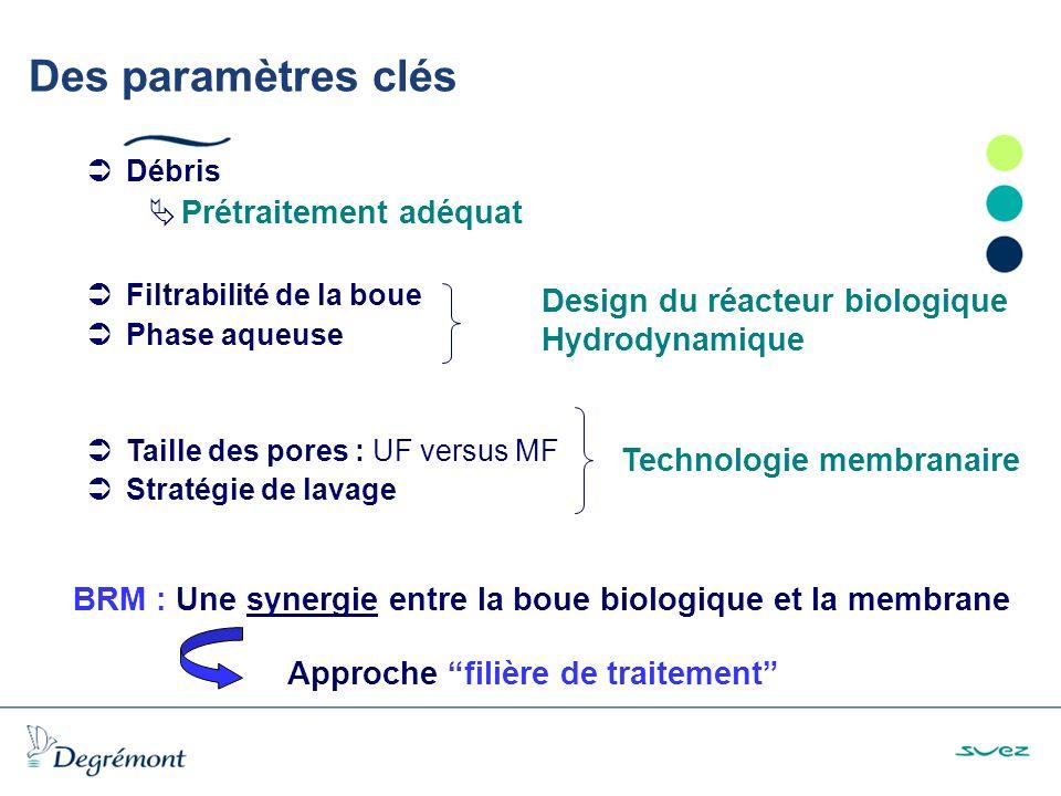 BRM : Une synergie entre la boue biologique et la membrane