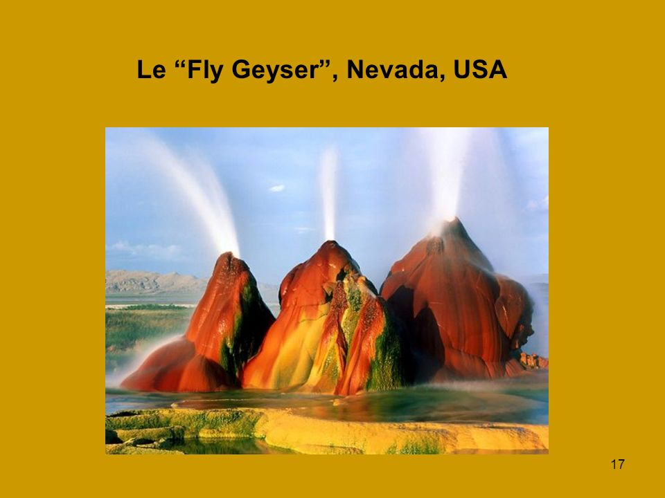 Le Fly Geyser , Nevada, USA