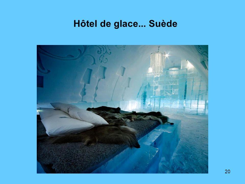 Hôtel de glace... Suède