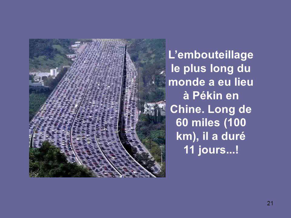 L'embouteillage le plus long du monde a eu lieu à Pékin en Chine