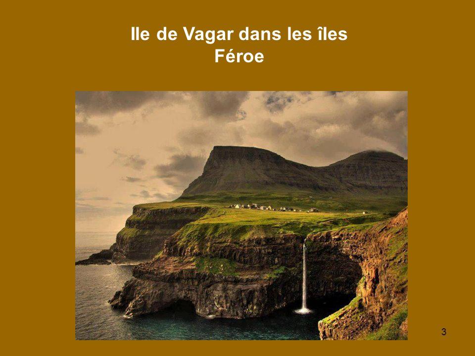 Ile de Vagar dans les îles Féroe