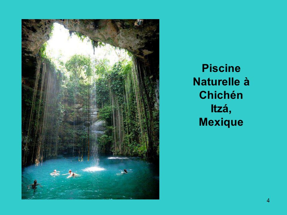 Piscine Naturelle à Chichén Itzá, Mexique