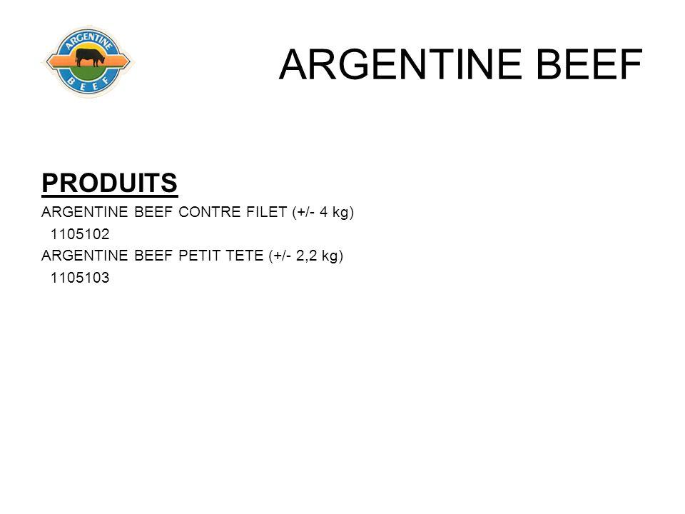 ARGENTINE BEEF PRODUITS ARGENTINE BEEF CONTRE FILET (+/- 4 kg) 1105102