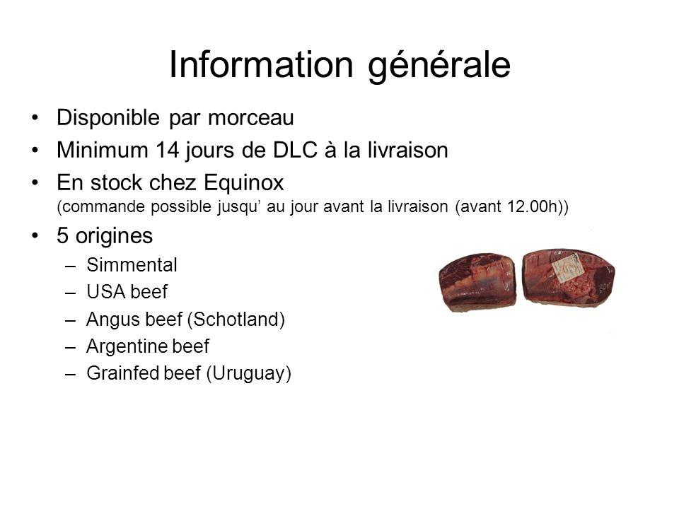 Information générale Disponible par morceau