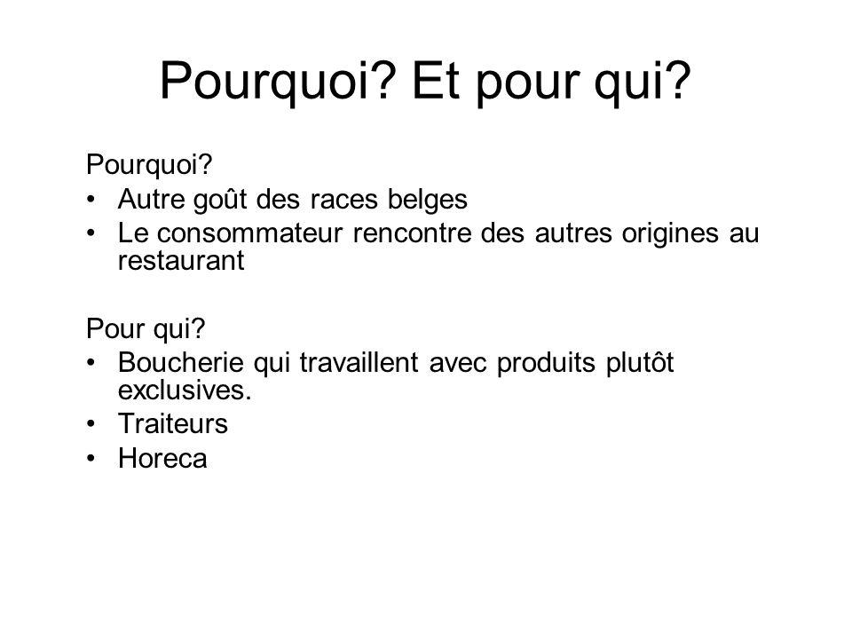 Pourquoi Et pour qui Pourquoi Autre goût des races belges