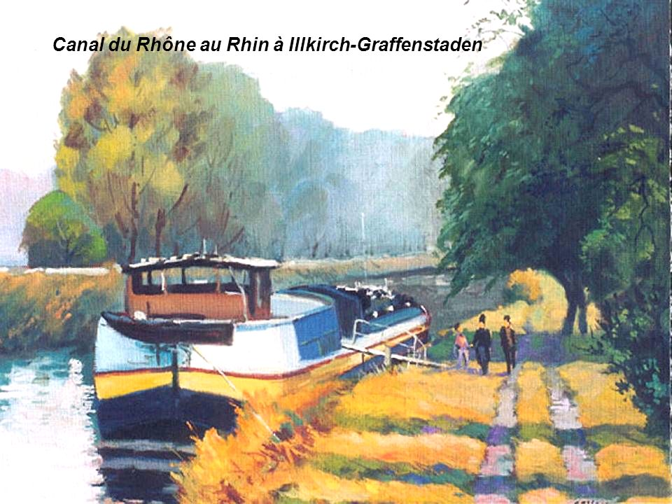 Canal du Rhône au Rhin à Illkirch-Graffenstaden
