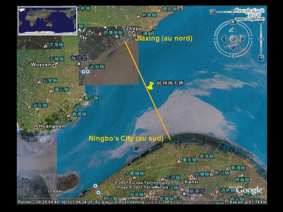 Jiaxing (au nord) Ningbo's City (au sud)