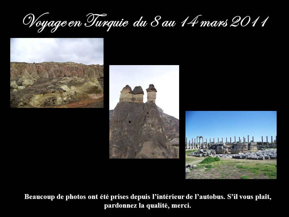 Voyage en Turquie du 8 au 14 mars 2011
