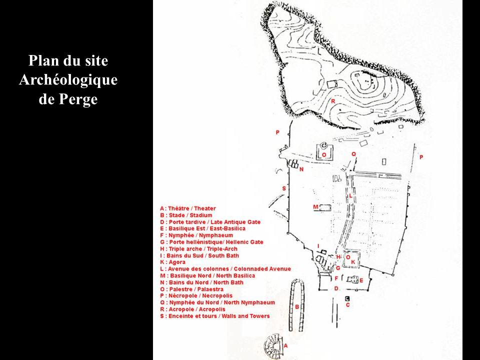 Plan du site Archéologique de Perge