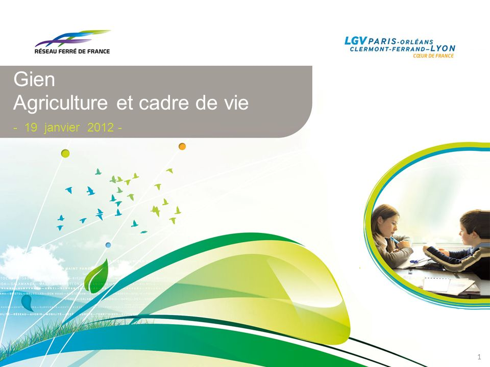 Gien Agriculture et cadre de vie - 19 janvier 2012 -