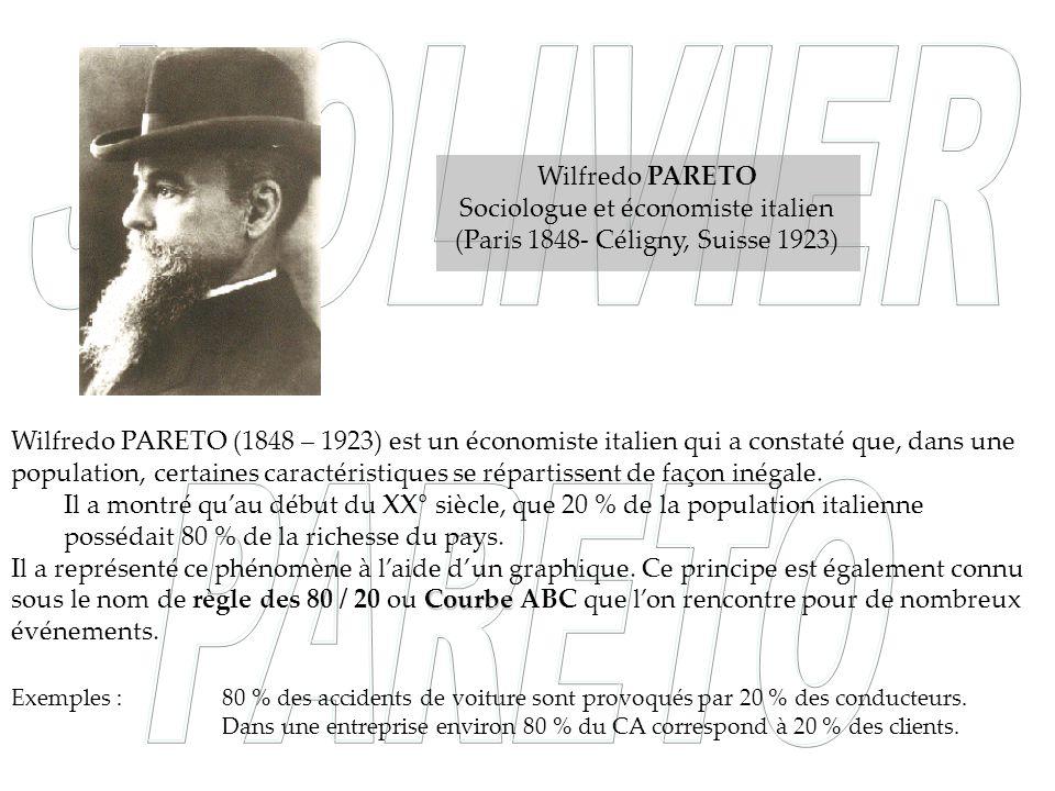 Sociologue et économiste italien (Paris 1848- Céligny, Suisse 1923)