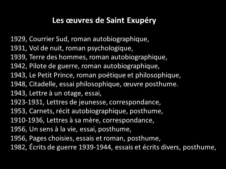 Les œuvres de Saint Exupéry