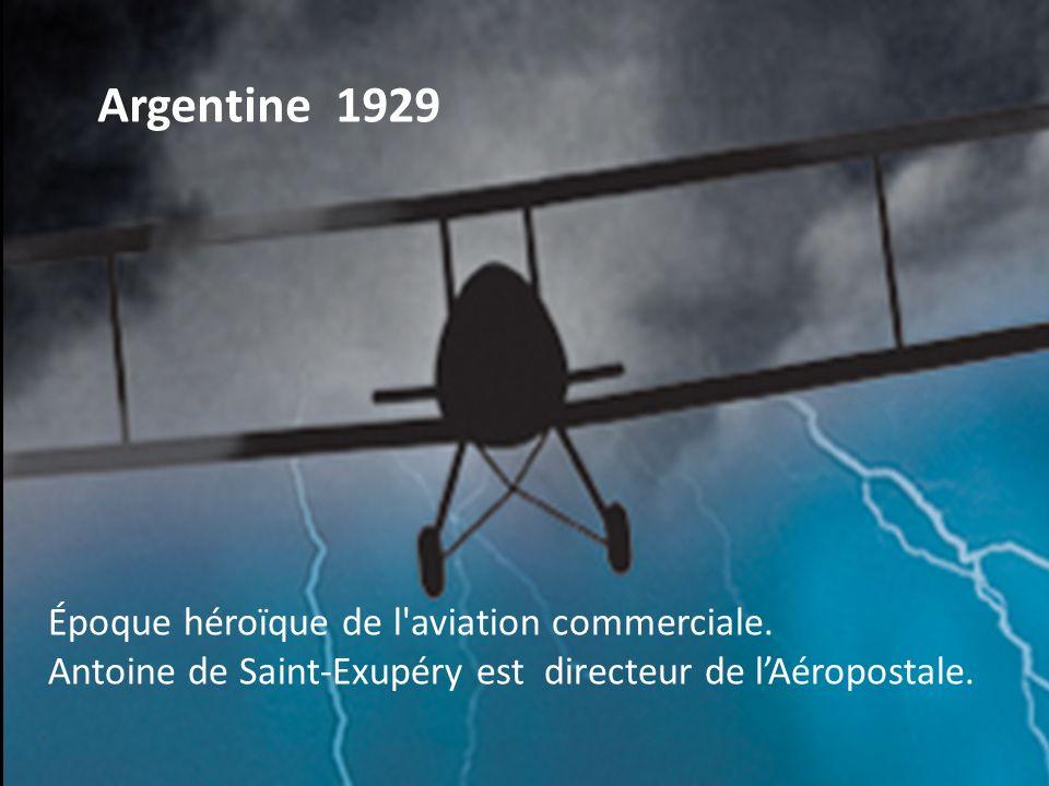 Argentine 1929 Époque héroïque de l aviation commerciale.