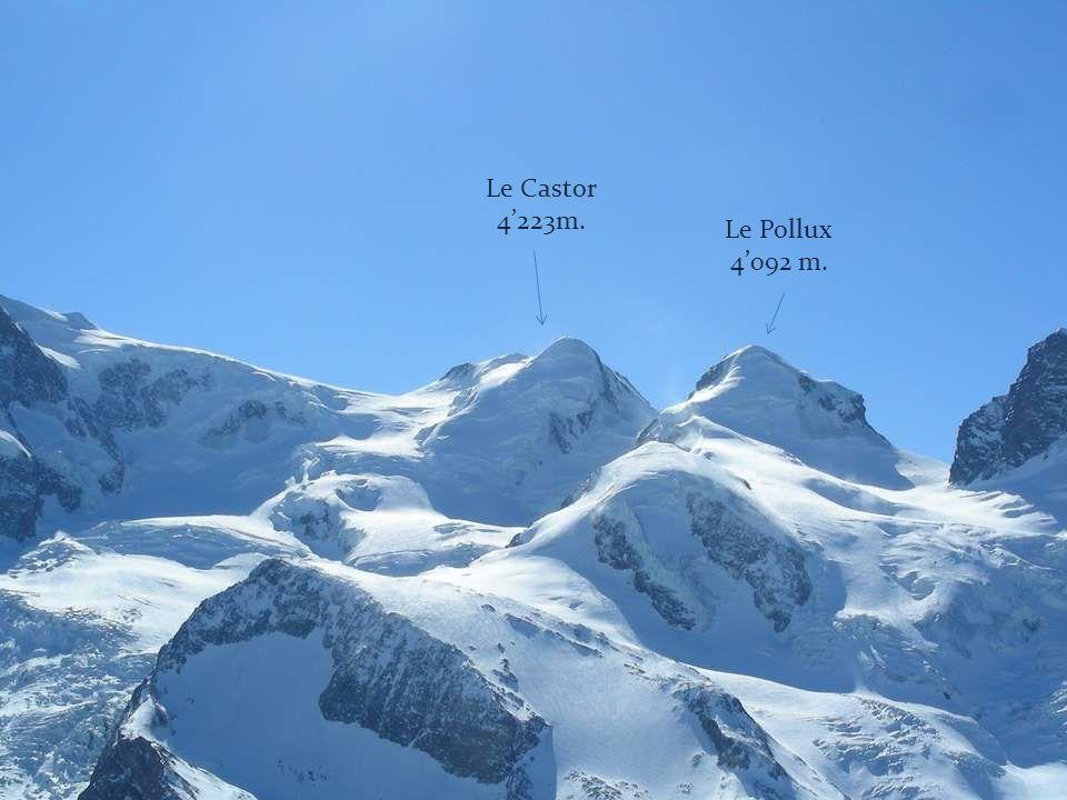 Le Castor 4'223m. Le Pollux 4'092 m.