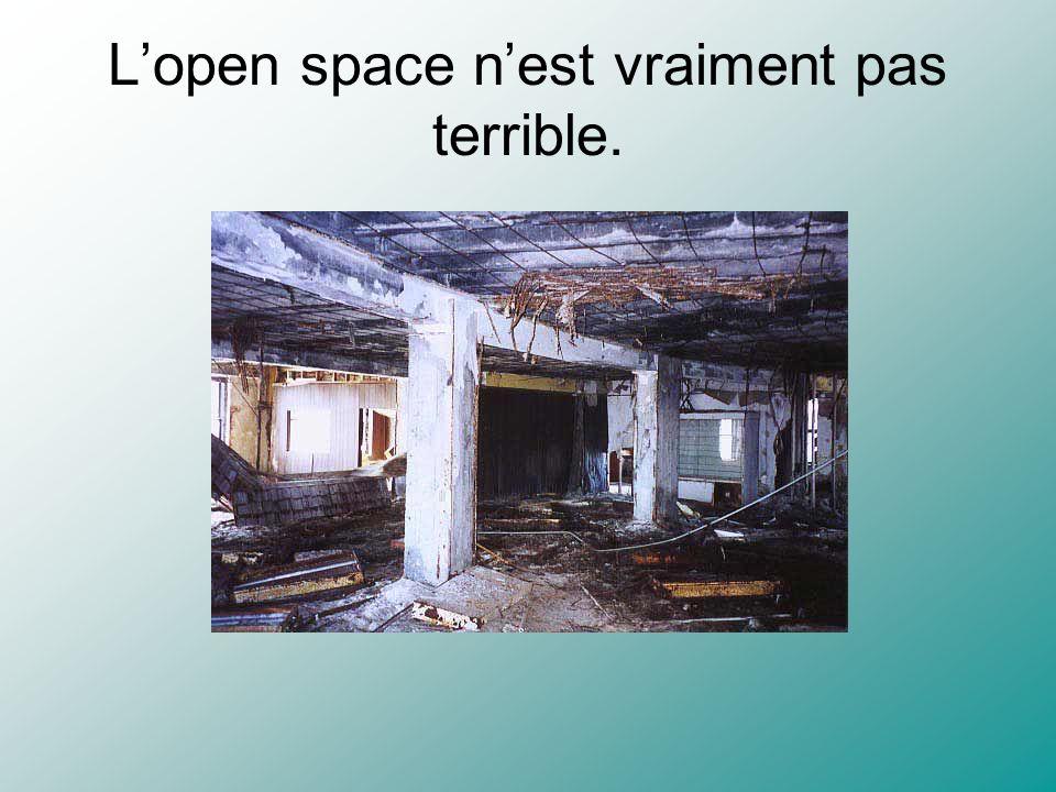 L'open space n'est vraiment pas terrible.