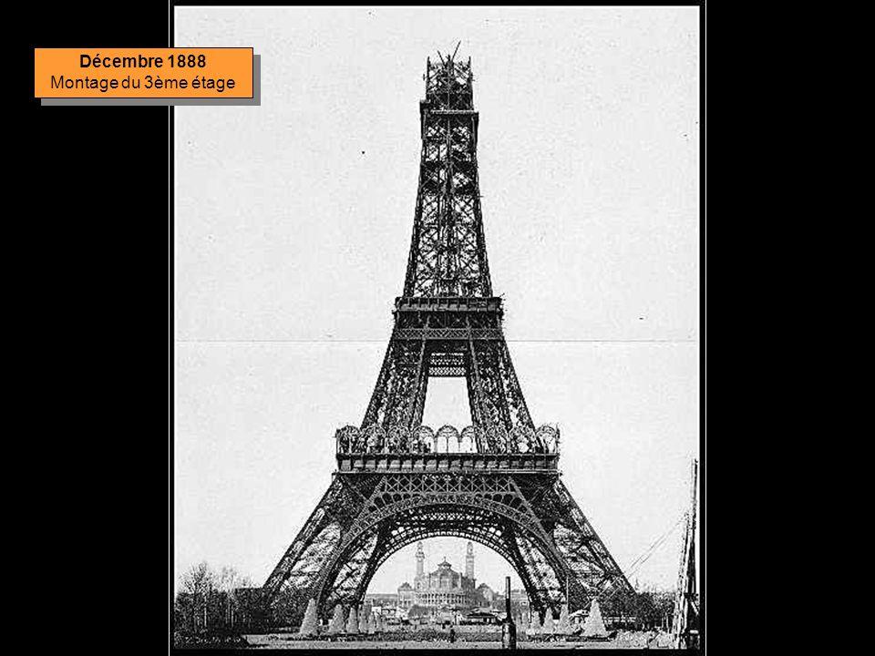 Décembre 1888 Montage du 3ème étage
