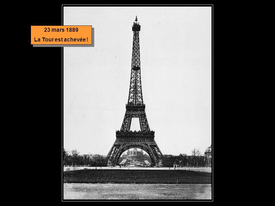 23 mars 1889 La Tour est achevée !