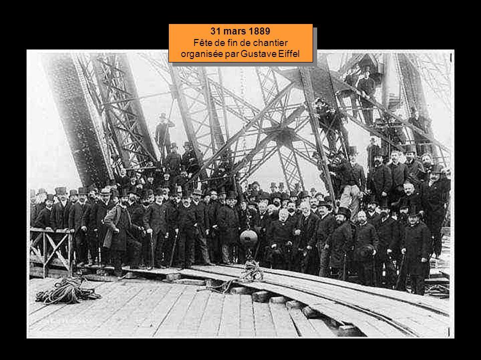 Fête de fin de chantier organisée par Gustave Eiffel