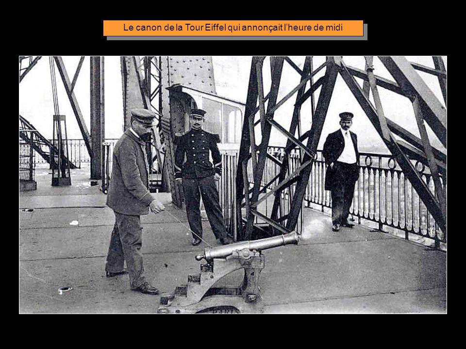 Le canon de la Tour Eiffel qui annonçait l'heure de midi