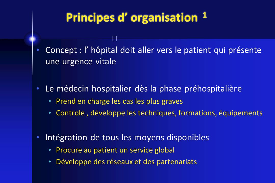 Principes d' organisation 1