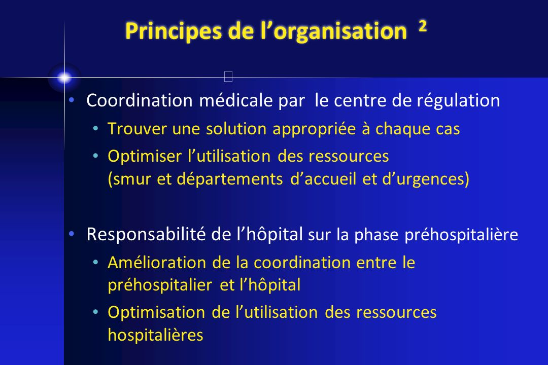 Principes de l'organisation 2