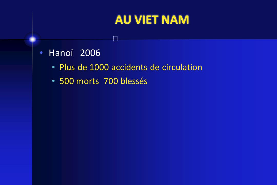 AU VIET NAM Hanoï 2006 Plus de 1000 accidents de circulation
