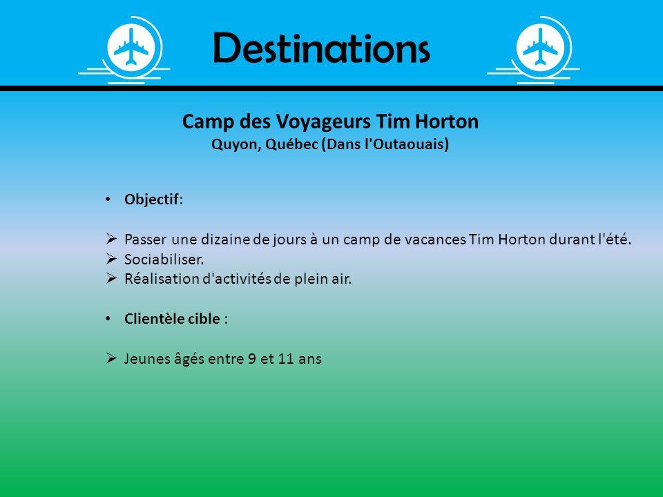 Camp des Voyageurs Tim Horton Quyon, Québec (Dans l Outaouais)