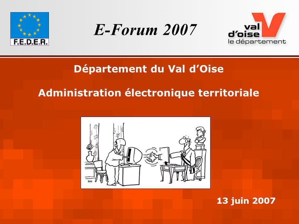Département du Val d'Oise Administration électronique territoriale