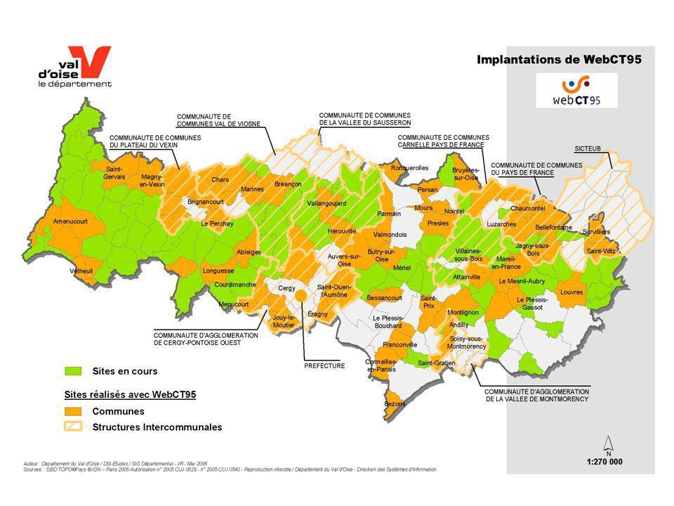 Carte contour orange 65 communes en production. 79 communes en cours. 6 communautés de communes. 2 communautés d'agglomération.