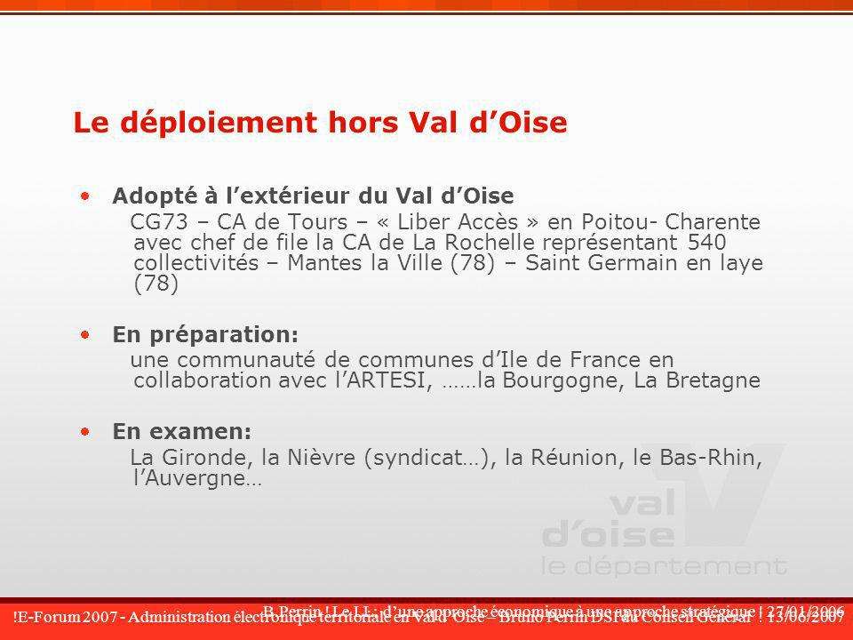 Le déploiement hors Val d'Oise