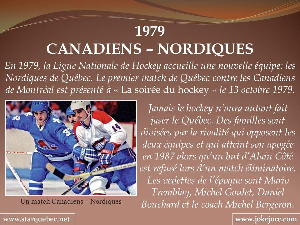 Un match Canadiens – Nordiques