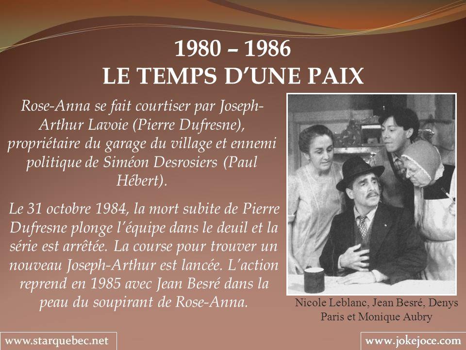 Nicole Leblanc, Jean Besré, Denys Paris et Monique Aubry