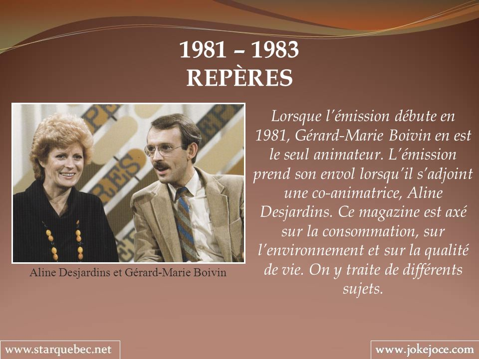 Aline Desjardins et Gérard-Marie Boivin