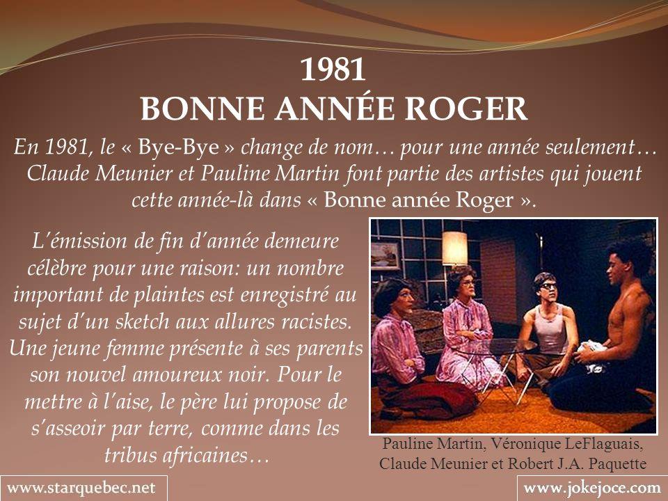 1981 BONNE ANNÉE ROGER.