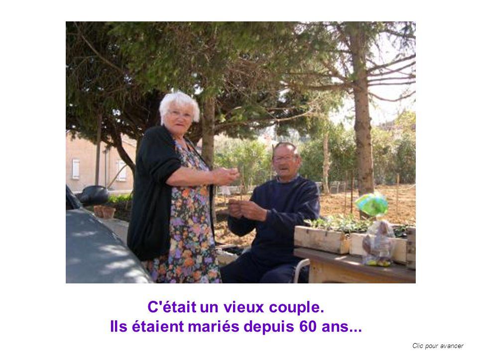 Ils étaient mariés depuis 60 ans...