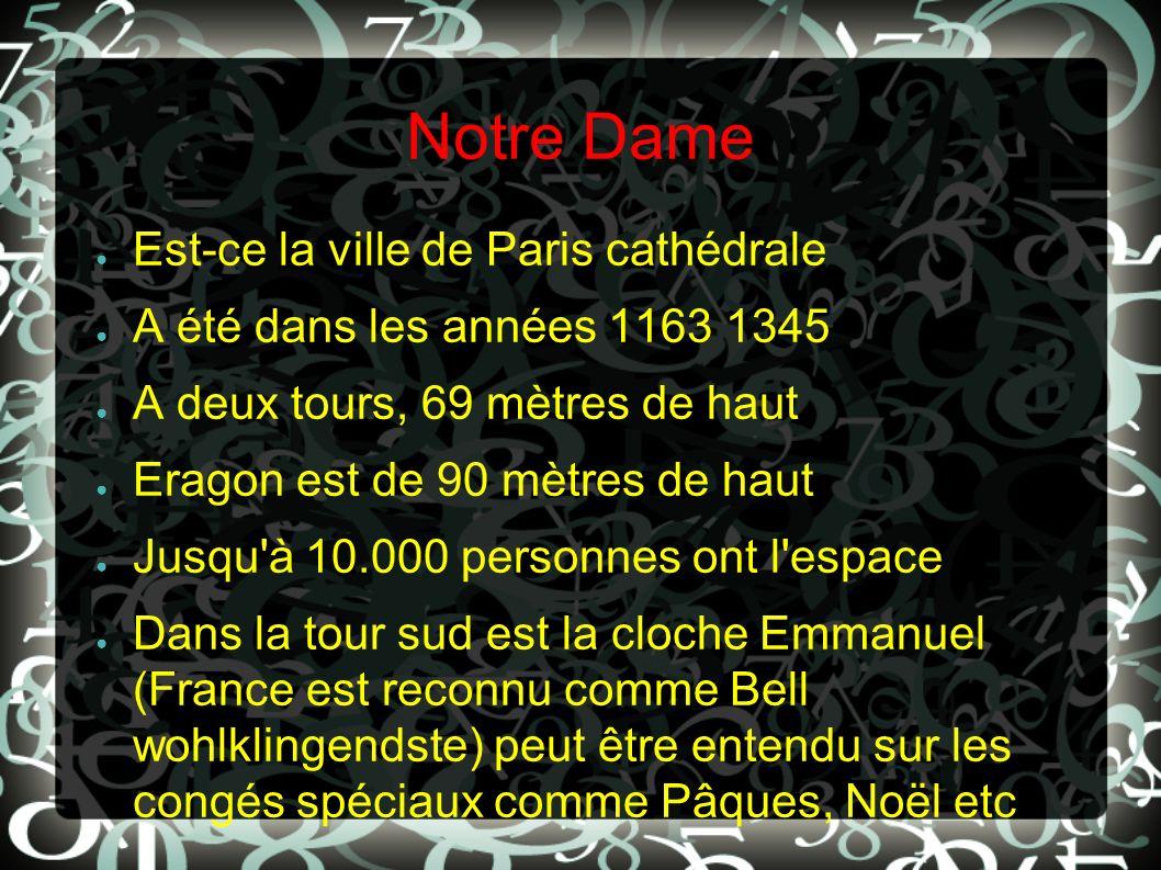 Notre Dame Est-ce la ville de Paris cathédrale