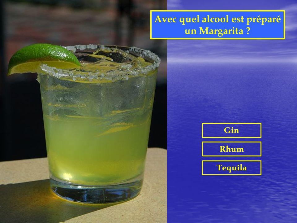 Avec quel alcool est préparé un Margarita
