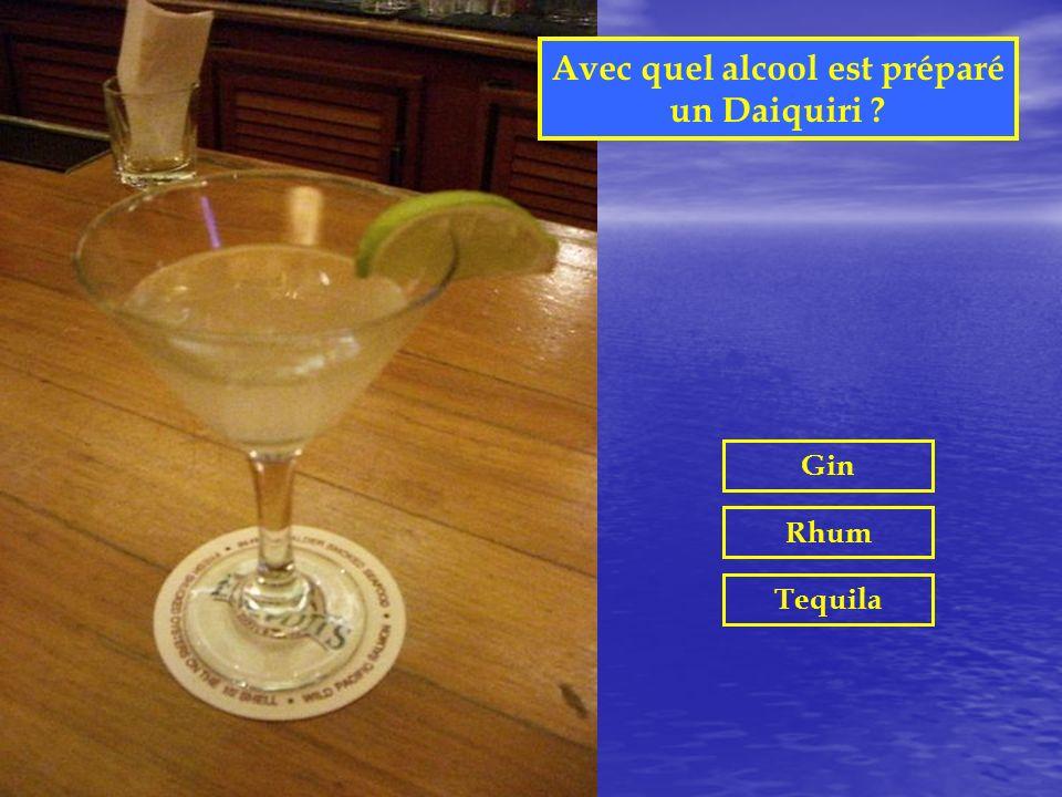 Avec quel alcool est préparé un Daiquiri