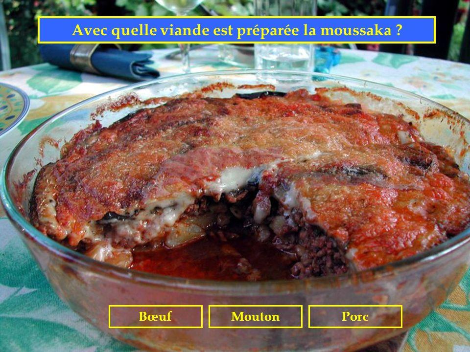 Avec quelle viande est préparée la moussaka