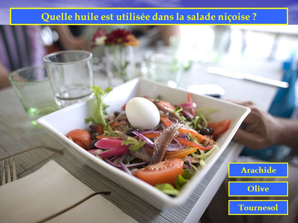 Quelle huile est utilisée dans la salade niçoise