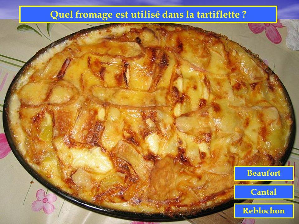 Quel fromage est utilisé dans la tartiflette