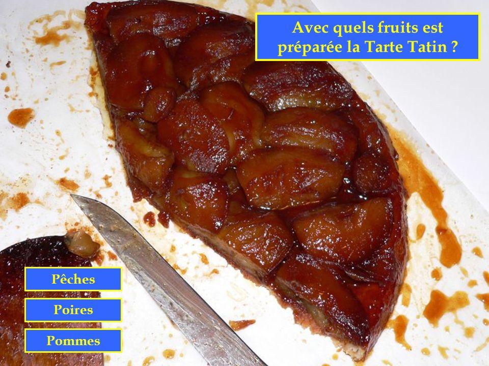 Avec quels fruits est préparée la Tarte Tatin