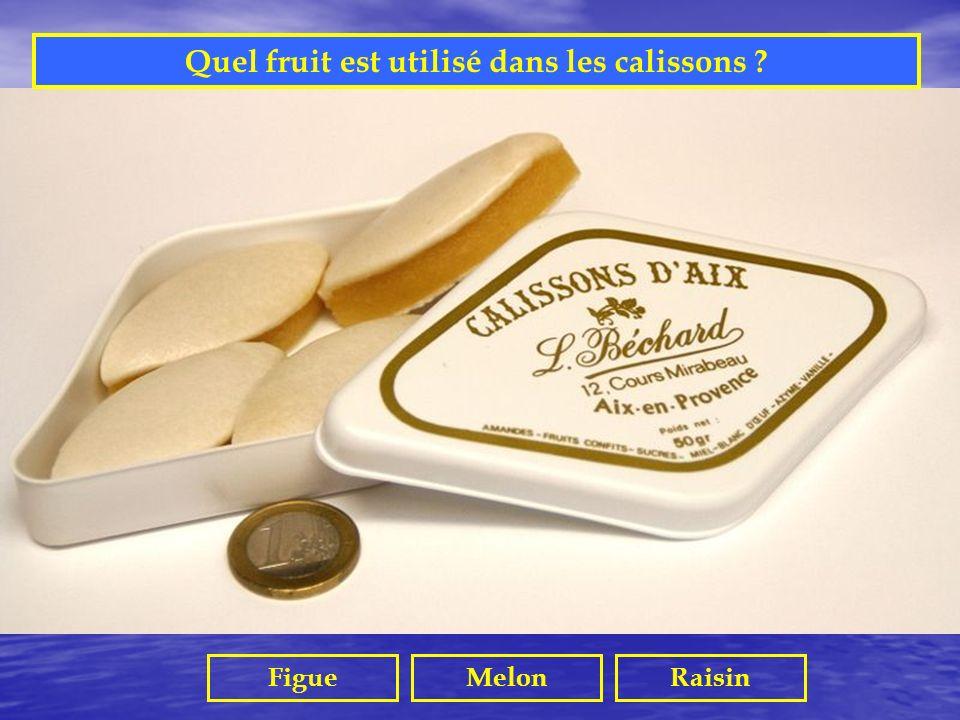 Quel fruit est utilisé dans les calissons