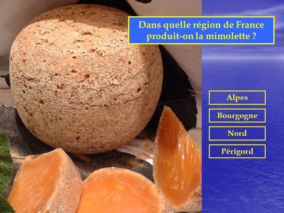 Dans quelle région de France produit-on la mimolette