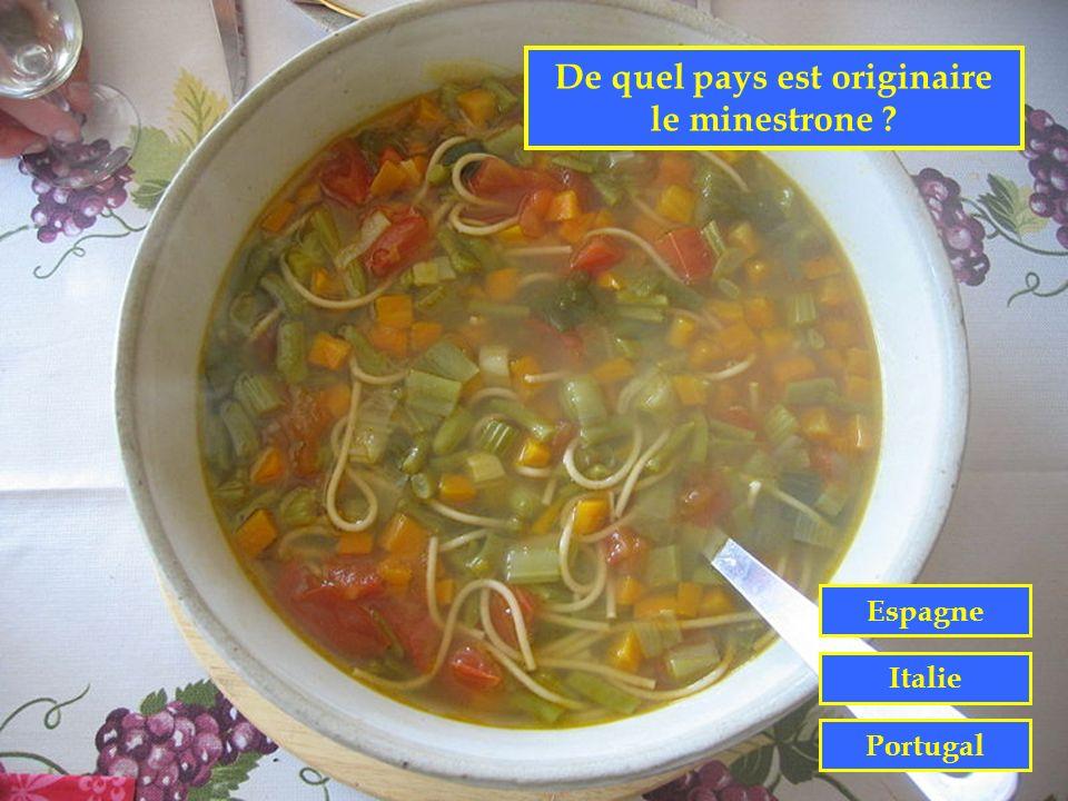 De quel pays est originaire le minestrone