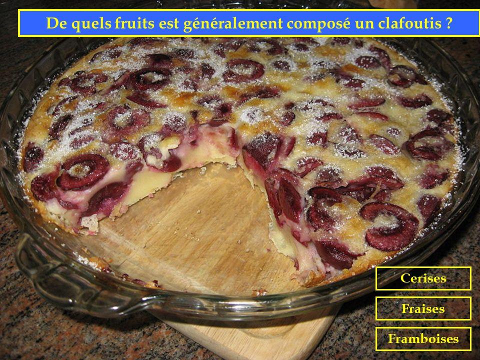 De quels fruits est généralement composé un clafoutis
